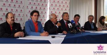 Andrés Paris, Pastor Alape, Ernesto Samper, Vicepresidente Oscar Naranjo, León Valencia, Ramón Jimeno, Laura Gil