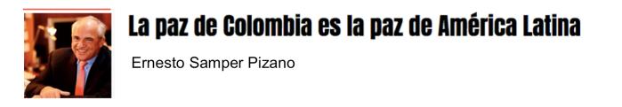 La paz de Colombia es la paz de América Latina